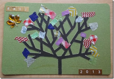 Fall 2013 washi tape tree by Tristine Denise