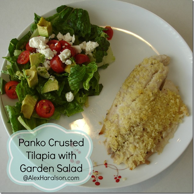 Panko Crusted Tilapia with garden salad8