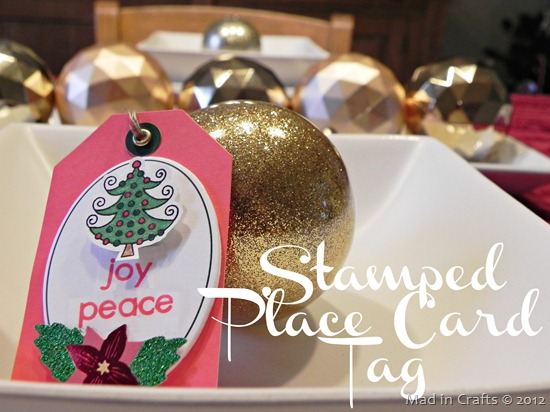 Stamped Place Card Tags