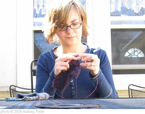 'Knitting outside' photo (c) 2008, Aubrey - license: http://creativecommons.org/licenses/by/2.0/