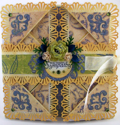 With Deepest Sympathy Napkin Fold Card