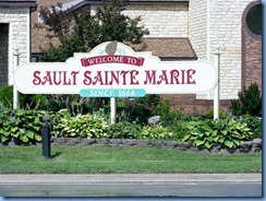 4885 Michigan - Sault Sainte Marie, MI - I-75 Business - Welcome sign
