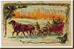 Happy new year horses & car
