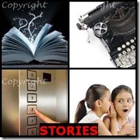 STORIES- 4 Pics 1 Word Answers 3 Letters