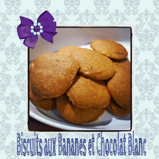 Biscuits aux bananes et au chocolat blanc