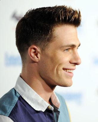 Photo of Colton Haynes tapered haircut