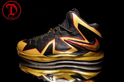 nike lebron 10 cs championship by dank 1 07 LeBron X PS Elite Championship for King James by Dank Customs