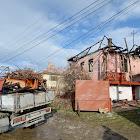 Leégett ház Farkaslakán