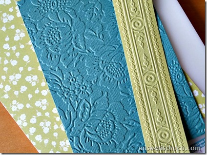 Cuttlebug Embossed Paper