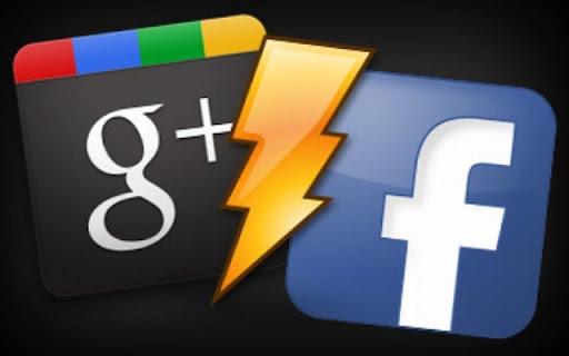 Fondo Google+ plus vs Facebook