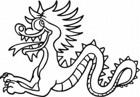 Dragones chinos dibujos para colorear for Chinese lion coloring page
