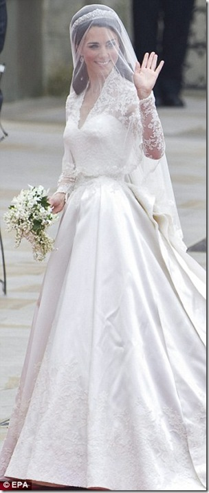 Kate Middleton Royal Wedding Dress Sarah Burton For Alexander McQueen