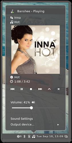 Cinnamon 1.6 - Sound Applet