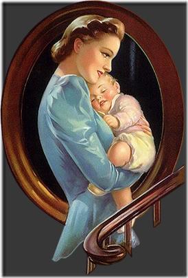 madre con bebe vintage (4)