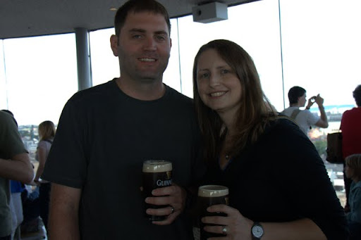At the Guinness sky bar with our free Guinness