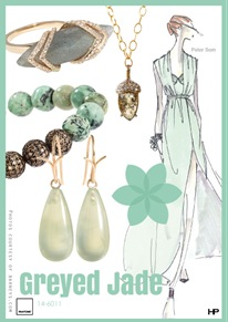 Pantone 2013 Spring Colors in Grayed Jade