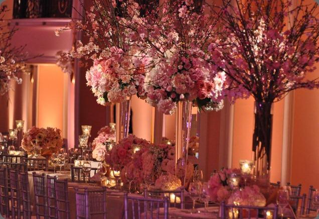 Self wedding decoration tall centerpieces