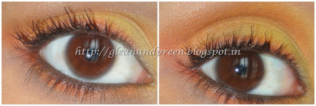 Eye Makeup - Sunrise With Yellow Orange