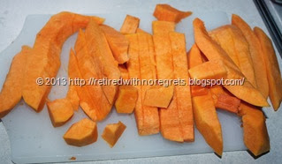 Roasting Vegetables - cutting squash
