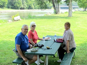 1308179 Aug 21 Bill Ann Barb At Picnic Table