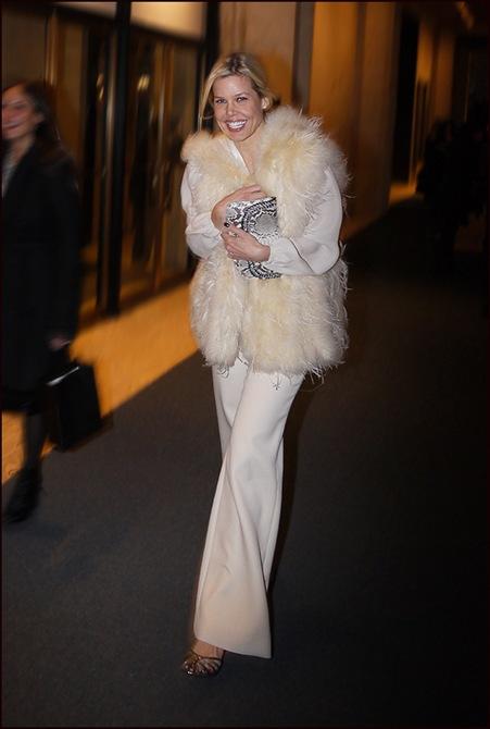 w mary stephenson white fur vest white blouse and slacks 3 ol