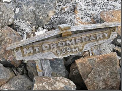 Mount Dromedary Sign  at summit