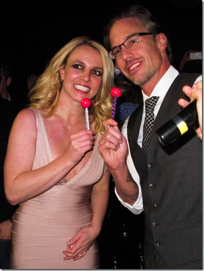 Britney Spears and Jason Trawick party at Chateau Nightclub in Las Vegas