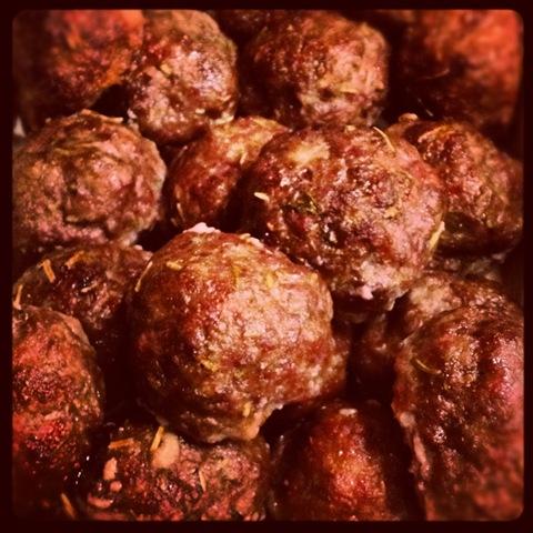 #136 - baked baby beef meatballs