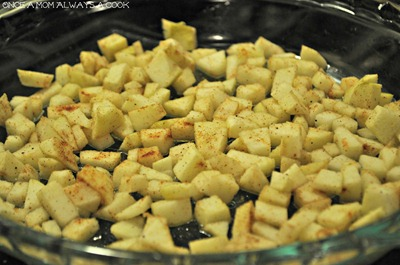Apples and Spice in oven
