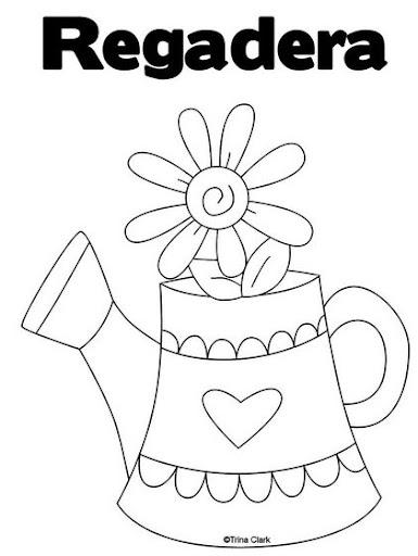 Regadera De Baño Para Colorear:Miss You Coloring Pages