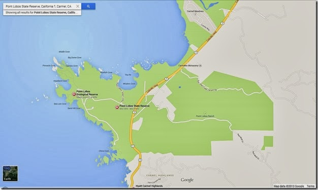 Googlemap for Point Lobos