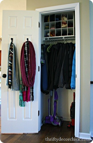 coat closet organization