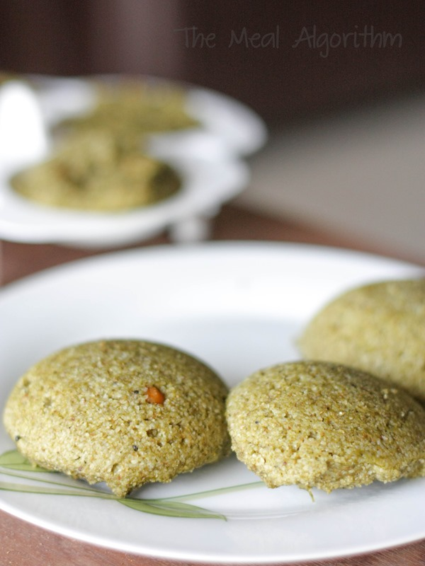 Instant Oats & Spinach Idli