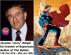 TCU 17th Oct 2014 Jerry Siegel Spider Author Born