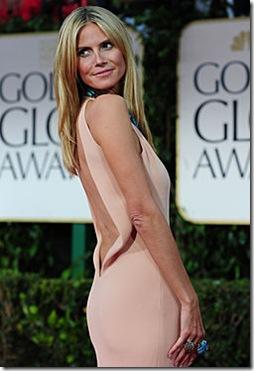 Heidi Klum espalda