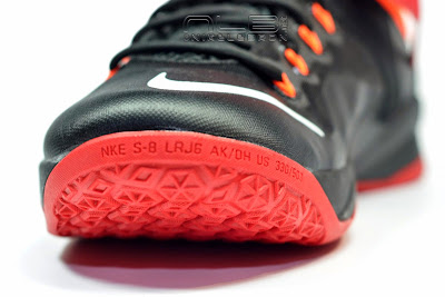 lebrons soldier8 black red 17 web The Showcase: Nike Zoom Soldier 8 Miami Heat