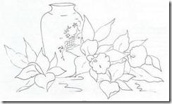 risco flor pintura em tecido 2