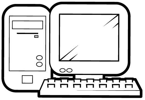 La computadora y sus partes para colorear - Imagui