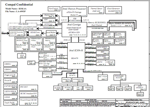 Toshiba Satellite Motherboard Schematic, Toshiba, Free