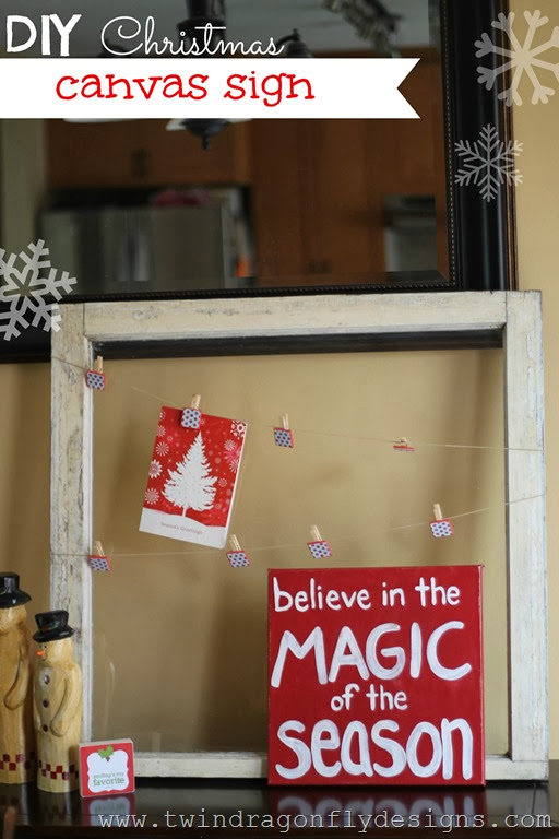 DIY Christmas Sign Title