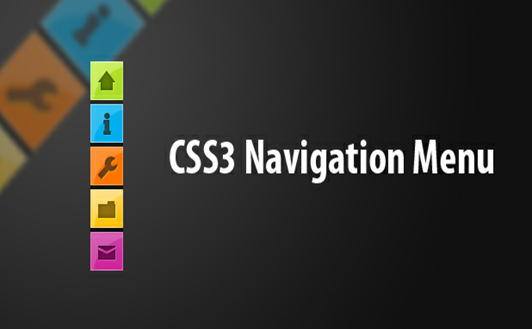 elegante menu css3 lateral vertical para blogs do Blogger