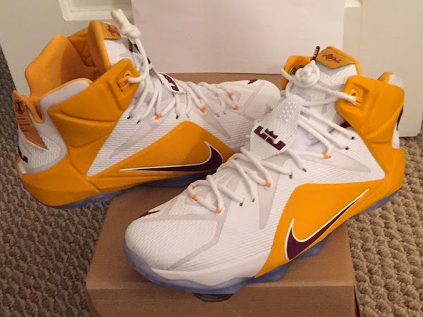 First Look at Nike LeBron XII 12 8220CTK Away8221 PE