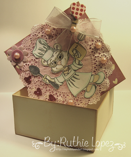 Latinas Arts and Crafts - Stitchy Bear´s Digi Outlet -  BeeBee - BBKakes - Ruthie Lopez DT - Treat Box - Valentine´s Box 3