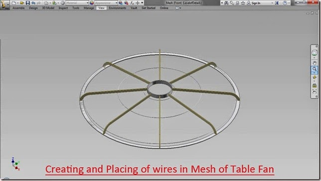 Creating wires in Mesh of Table Fan