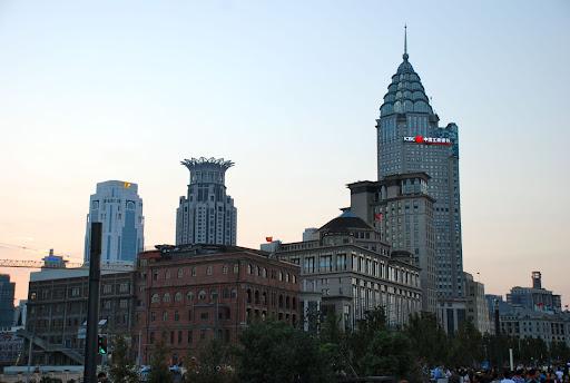 Shanghai South Bund - Crépuscule immeuble