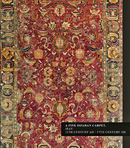 A Fine Isfahan Carpet, Iran. 11th century AH / 17th century AD.