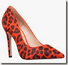 Carvela Orange Animal Print Court Shoe