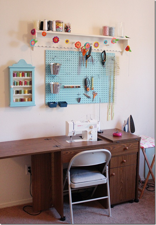 Sewing Table and Sewing Pegboard