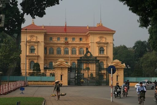 The Presidential Palace in Hanoi, where you can walk through the gardens (if you are so inclined).