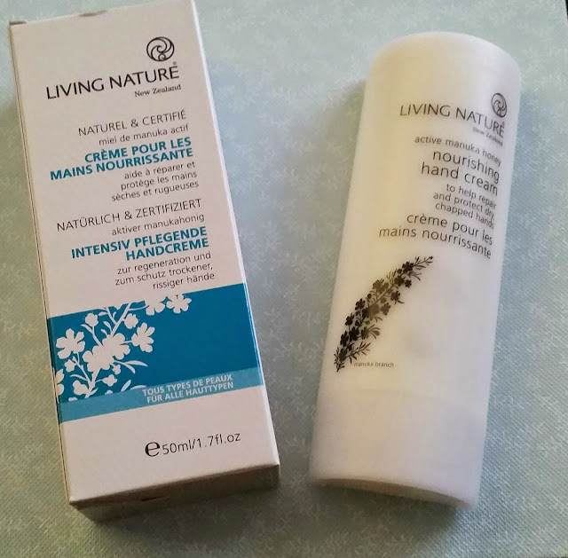 Living Nature Nourishing Hand Cream.